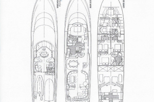 115' Westport - Crescent Tri-deck Motoryacht 1994 LAYOUT