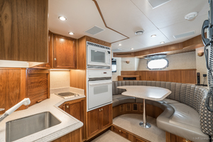 115' Westport - Crescent Tri-deck Motoryacht 1994 CREW LOUNGE AND GALLEY