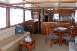 60' Vic Franck Custom Pilothouse Motoryacht 1984 SALON