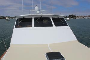 60' Vic Franck Custom Pilothouse Motoryacht 1984 LOOKING AFT