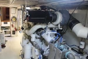 60' Vic Franck Custom Pilothouse Motoryacht 1984 ENGINE