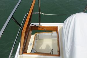 60' Vic Franck Custom Pilothouse Motoryacht 1984 BOAT DECK ACCESS