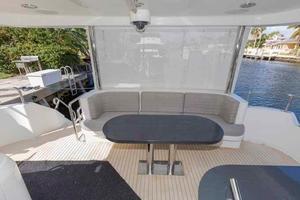 66' Neptunus Enclosed Skylounge 2005 Aft Deck Seating