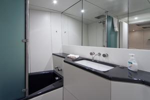 100' Wally 100 2002 Master Cabin En-Suite with carbon fibre bath