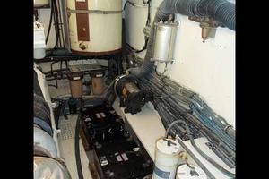 77' Hatteras Cockpit Motoryacht 1987 Outboard Starboard Engine