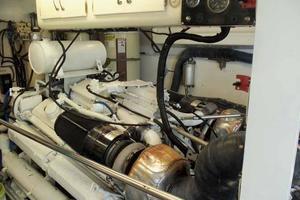 77' Hatteras Cockpit Motoryacht 1987 Starboard Engine