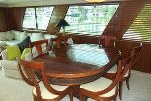 77' Hatteras Cockpit Motoryacht 1987 Dining Table