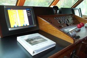 77' Hatteras Cockpit Motoryacht 1987 Helm Detail Port