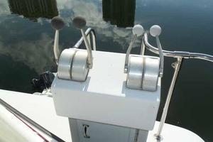 77' Hatteras Cockpit Motoryacht 1987 Aft Boat Deck Controls