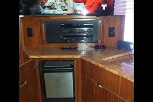 77' Hatteras Cockpit Motoryacht 1987 Entertainment Center