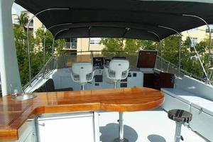 77' Hatteras Cockpit Motoryacht 1987 Flybridge Bar