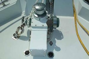 77' Hatteras Cockpit Motoryacht 1987 Above Deck Windlass