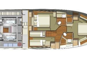 52' Riviera ENCLOSED FLYBRIDGE- ON ORDER! 2019 Riviera Yachts 50 Flybridge Master Cabin Aft Layout