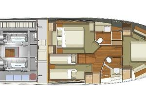 52' Riviera Enclosed Flybridge- On Order! 2019 Riviera Yachts 50 Flybridge Master Cabin Forward Layout