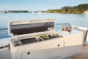 52' Riviera ENCLOSED FLYBRIDGE- ON ORDER! 2019 Riviera Yachts 52 Flybridge Cockpit BBQ