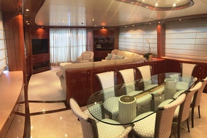 88' Sanlorenzo 88 Rph Motoryacht 2002 Dining and Salon