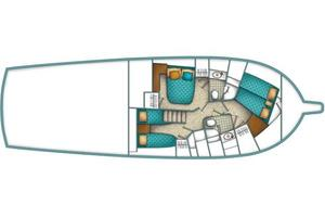 50' Ocean Yachts 50 Super Sport 2006 Manufacturer Provided Image: Optional arrangement.