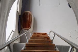 52' Hatteras 52 Convertible 1987 Teak Steps to Flybridge