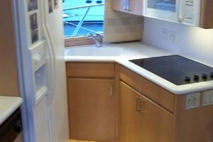 60' Hatteras Enclosed Bridge Convertible 1999 1999 Galley