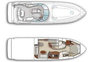 52' Sea Ray 52 Sundancer 2008 Vessel Layout