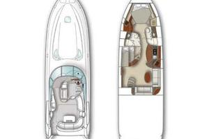 52' Sea Ray 52 Sundancer 2007 Vessel Layout