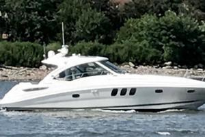 48' Sea Ray 48 Sundancer 2005 Strbrd Profile w/ Tender Lift