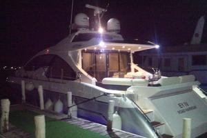 55' Azimut 55s 2016 Docked at Night