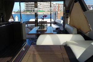 55' Azimut 55s 2016 Salon Looking Aft