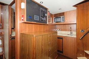 90' Ocean Alexander Skylounge Motoryacht 2012 Crew galley and storage