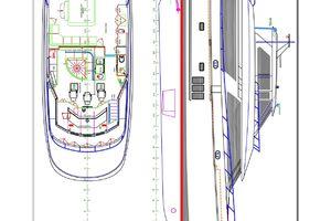 90' Ocean Alexander Skylounge Motoryacht 2012 Layout rendering
