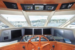 90' Ocean Alexander Skylounge Motoryacht 2012 Helm View and Overhead