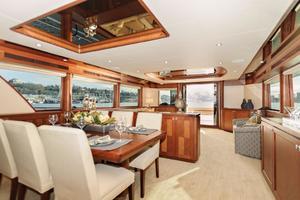90' Ocean Alexander Skylounge Motoryacht 2012 Formal Dining/Salon