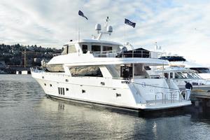 90' Ocean Alexander Skylounge Motoryacht 2012 Aft Deck View