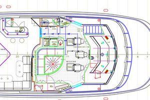 90' Ocean Alexander Skylounge Motoryacht 2012 Upper Deck rendering