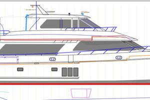 90' Ocean Alexander Skylounge Motoryacht 2012 Side Deck Profile