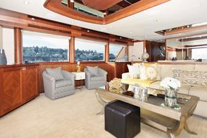 90' Ocean Alexander Skylounge Motoryacht 2012 Salon Port View