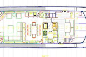 90' Ocean Alexander Skylounge Motoryacht 2012 Main Deck Rendering