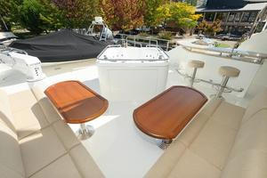 90' Ocean Alexander Skylounge Motoryacht 2012 Boat Deck Seating and Jaccuzzi