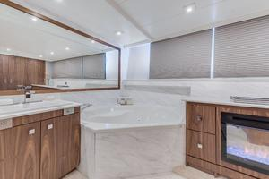 112' Westport Custom with Gregory Marshall Design 1994 Master stateroom head/shower