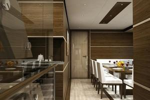 100' Custom Tri-Deck Explorer Yacht 2021 Galley - Dining