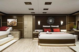 100' Custom Tri-Deck Explorer Yacht 2021 Master Stateroom