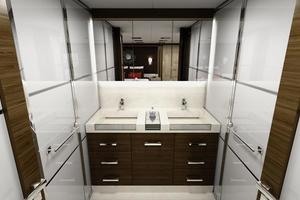 100' Custom Tri-Deck Explorer Yacht 2021 Master Head sinks