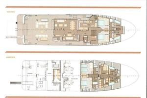132' Ocean King Ocean King 130 2020 GA Main and Lower Decks