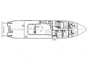 130' Custom Expedition Yacht 1973 Main Deck Layout