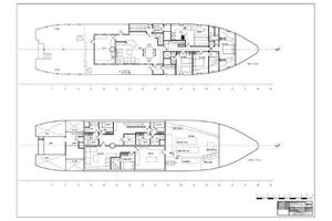 130' Custom Expedition Yacht 1973 Main and Lower Decks