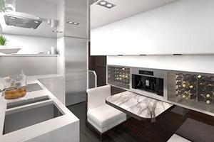 95' Pearl 95 2019 Manufacturer Provided Image: Pearl 95 Galley