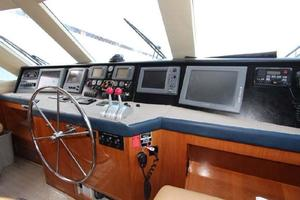 60' Hatteras Enclosed Bridge 2002 Flybridge Helm
