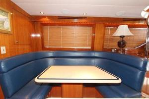 60' Hatteras Enclosed Bridge 2002 Dinette
