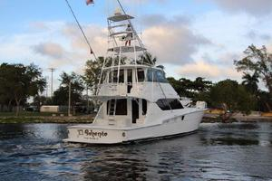 60' Hatteras Enclosed Bridge 2002 Aft Quarter