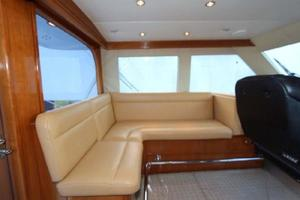 60' Hatteras Enclosed Bridge 2002 Enclosed Flybridge Settee